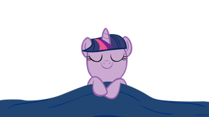 My first vector: Sleeping Twilight sparkle by sofunnyguy