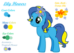 Lily Flowers Reference Sheet 1.1 - Rough CutieMark by ChaoticNote