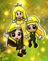 :G- Alyssa, Sarah and The Yellow Sprixie Princess: by Misskatt66