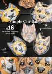 Commisions: Simple Con - Badge INFO by SaQe