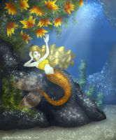 Sunlight Mermaid by wolfanita