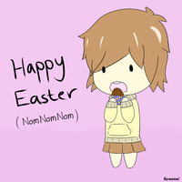 Harumi Easter - ShareArt-CuteQQ Easter Contest by AlanxKitsune