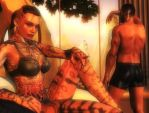 Mass effect wallpaper 21 - Jack and Shepard by ethaclane