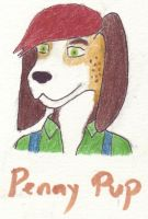 Penny Pup badge by The-Blue-Dragon