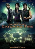 CATCHING FIRE self-made movie poster by NinaStrieder