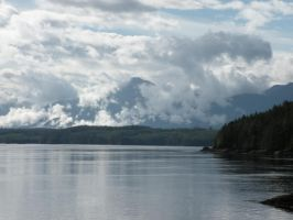 Vancouver Island in clouds by wickedlovelyfaery