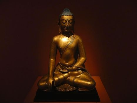 Sitting lord Buddha by CerealKiller1001