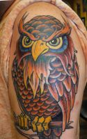 OWL - This is my 5th tattoo complete by TommyPhillips