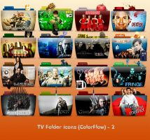 TV Folder Icons ColorFlow . Set 2 by ashtray4241