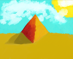 Pyramid fun shadow and clouds yay by RamenNoodl