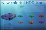 Colorful HDD icons by tonev