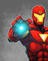 Iron Man Colored RossACampbell by DelHewittJr