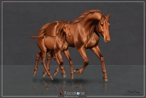 Commission - Holsteiner Horse by Hokkohono