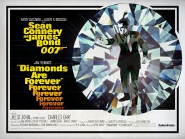 DIAMONDS ARE FOREVER British 'Quad' Poster by Alistair-Rhythm