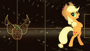 Applejack element wallpaper by Elsdrake