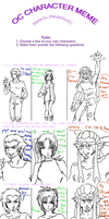 OC characters meme by Atey