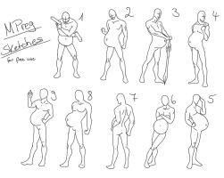 Mpreg sketches for free use by RazerBely