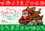 Merry Christmas 2014 and Happy New Year 2015!! by pikaplusmin