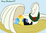 Pegasus family Christmas by Moonstone27