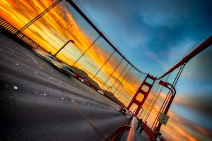 Golden Gate, amazing sky and walk 1  by alierturk