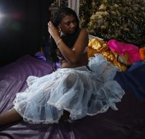 Relaxing in a blue petticoat by Photoburner