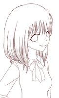 Chitose lineart by saTen0w0