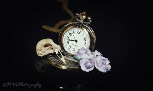 Watch, Flowers and Skull by CFTMPhotography