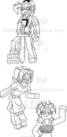 CraftyGirls Shirt designs .:WIP:. by MidNight-Vixen