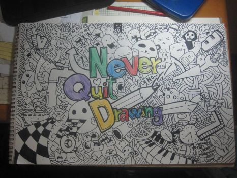 NeverQuitDrawing by Herleos