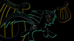 Neon Lyra Heartstrings Wallpaper by uxyd