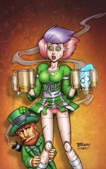 DollFace St Patrick's Day Special Cover F by BillMcKay