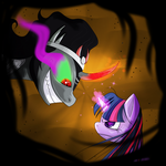 King Sombra VS Twilight by Anzhyra
