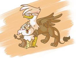 Gilda and Griselda. by PonyGoggles