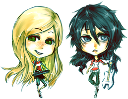 Allis and Charlie Chibi by BolDuck