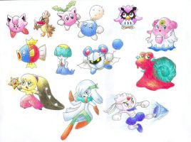 Pokemon X Kirby by gerugeon