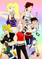 Naruto Teenie Gals by BlueWolfKunoichi
