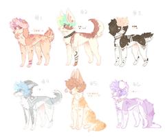 [CLOSED] Pastel Pupper Adopts #2 by Sno-berry