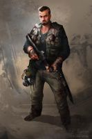 Dan (post-apocalyptic character design) by janemini