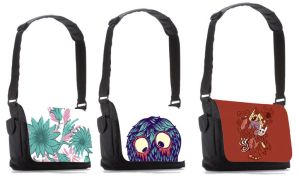 Messenger bags by Atomichild