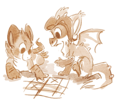 tic tac toe doodle by griffsnuff