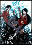 Adventure Time: Marceline and Marshall Lee by Kate-FoX