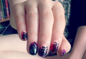 Butterfly Nails by Iszy-chan
