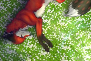 You among the flowers by neonspider