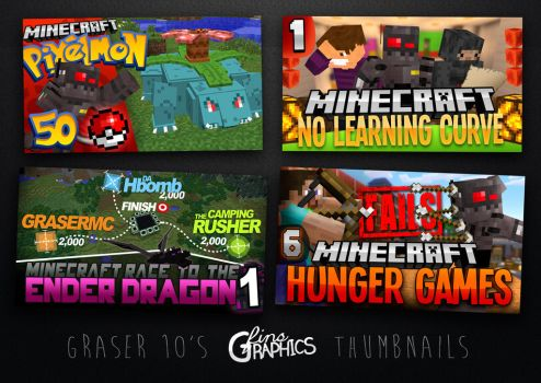 Minecraft GFX Thumbnail Designs - Graser10 by FinsGraphics