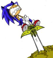 sonic coloreado por mi by sonicfreack