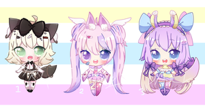 Chibi Batch Auction [CLOSED TY!] by DarkFearZZ
