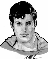 Christopher Reeve as superman by DoctorPretorius