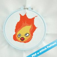 Calcifer Howls Moving Castle Cross Stitch Pattern by rukiara