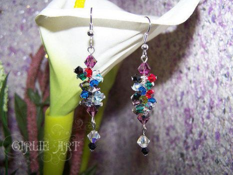 'Arcoiris' earrings by Girlie-Art