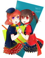 Nico and Maki by Nerah-chan